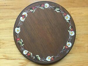 Wood Handmade/handpainted Lazy Susan