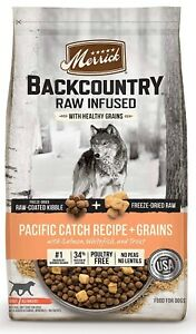 Merrick Backcountry Raw Infused Pacific Catch Recipe Dry Dog Food, 10 lbs