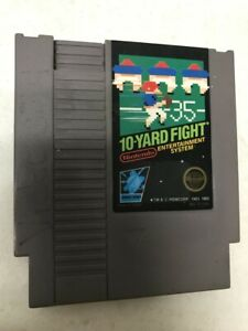 .01 START BID 10 YARD FIGHT CLASSIC ORIGINAL NINTENDO AUTHENTIC GAME NES HQ