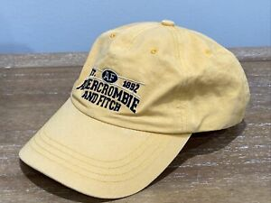 ABERCROMBIE 1892 - 90's Vintage Baseball Cap Leather Strap Back Distressed Hat