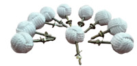 Nautical White Rope Drawer pulls Handles Monkey Fist Jute Rope Knobs (set of 10)