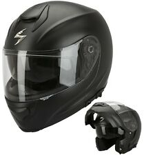 CASCO MOTO MODULARE APRIBILE SCORPION EXO 3000 AIR NERO OPACO BLACK MATT TG L