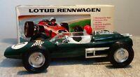 """F.I.A.M. No 201 """"Lotus Rennwagen"""", grün, gebr./gut, ca. 15cm, vmtl. um 1970"""