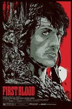Rambo First Blood Metallic Variant by Ken Taylor Mondo Movie Poster