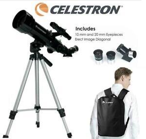 Telescope Celestron Travel Scope 70mm Portable Tripod Astronomical 43 Compact