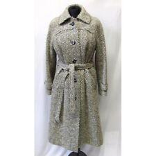 Ladies vintage CASTLE ISLAND Irish TWEED COAT UK  12 100% pure wool
