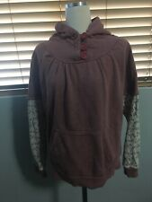 PAPER DENIM & CLOTH Women's Waffle Hoodie Sweatshirt Top size 2