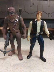 Star Wars Han Solo And Chewbacca Kenner 1995 POTF  3.75 Action Figures