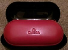 Omega watch red faux leather travel/storage box.              Presentation boxed