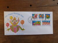 NEW ZEALAND 1991 HAPPY BIRTHDAY SET 5 STAMPS FDC FIRST DAY COVER