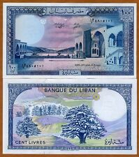 Lebanon, 100 Livres, 1988, P-66 (66e), UNC