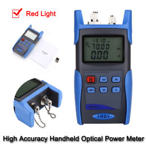 10MW Portable Fiber Optical Power Cable Tester Tool 800~1700nm 650NM Red Light