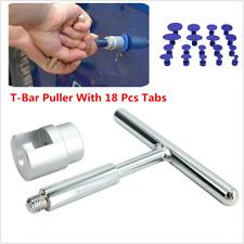 Set Of Car Body Paintless Dent Repair Tool Kit Puller Lifter T-Bar & 18 Tabs Hot