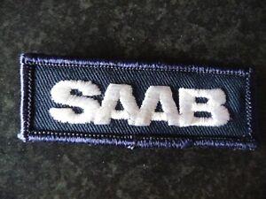Vintage SAAB Sew -on Badge for overalls or jacket pocket.