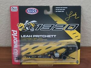 2018 Leah Pritchett Angry Bee 1320 Top Fuel Dragster 1/64 Autoworld NHRA Diecast