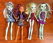 LOT of 4 2008 Monster High Dolls - Clawdeen Lagoona Frankie Stein