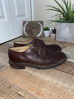 FRYE James Lug Mens Sz 10D Brown Leather Oxford Dress Casual Lace Up Shoes