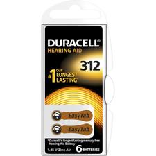 Duracell Hearing Aid 312 1,45V Pile Bouton en Zinc Air (6 Pièces)