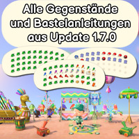 Update 1.7.0 alle 94 Teile | Karneval | Festivale | Animal Crossing New Horizons