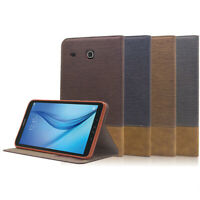 """Leather Case Cover For Samsung Galaxy Tab E 8.0"""" SM-T377 / 9.6"""" SM-T560 Tablet"""