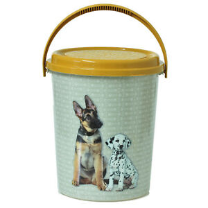 Large Plastic 11 Litre Dog Pet Dry Animal Food Storage Container Box Bucket