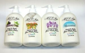 12 oz Goat Milk Lotion-Coconut and Palm Oil Free, Natural & Organic by MJR Soap