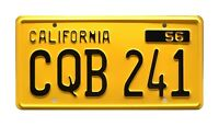 Christine | 1958 Plymouth Fury | CQB 241 | STAMPED Replica Prop License Plate
