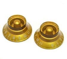 "GOLD BELL KNOBS ""0-11"" FOR GIBSON LES PAUL GUITAR USA & CTS (SET OF 2) *NEW*"