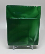 KSI Green King Size Flip-To-Open Divided Cigarette Case - Holds 27 Cigarettes!