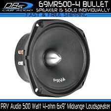 """PRV Audio 69MR500-4 BULLET 6x9"""" Midrange Car Speaker 500 Watt 4-ohm Loudspeaker"""