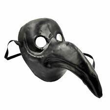 Black Adults Authentic Cult Plague Doctor Face Mask Steampunk Halloween Beast