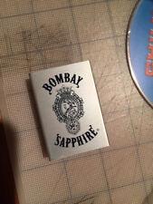 RARE Bombay Sapphire Aluminum  Match Box Holder Vintage