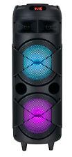 Mobiler DJ PA Party Bluetooth Lautsprecher LED Akku Box Karaoke Maschine 60W