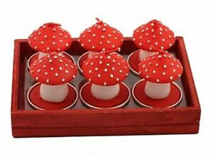 Stocking Filler - 6 Toadstool Night Light Candles