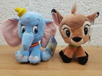 "Disney Animal Tales Bambi And Dumbo 8"" Plush Soft Toy By Posh Paws With Tags"