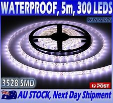 Waterproof Flexible Cool White DC 12V 5M 3528 SMD 300 Leds LED Strip Light Car