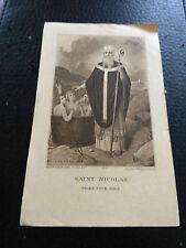 image pieuse saint nicolas priez pour nous 1927