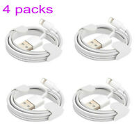4 PACKS Original 1M Lightning USB Charger Cable For Apple iPhone 6s 7 8 Plus X