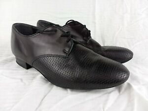 Supadance 6000 Low Heel Men's Black Leather Ballroom Dance Shoes Size 9 1/2