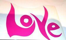 Love Rosa, Laptop/Coche Decal/Sticker, ventanas, paneles o parachoques
