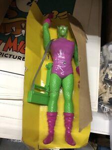 """Vintage Energized Villain Spider-Man Remco 1978 Marvel Green Goblin 12"""" Figure"""