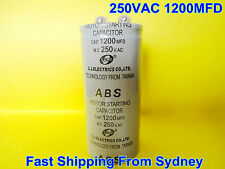 ABS 250VAC 1200MFD (1200uF) Air Conditioner Appliance Motor Starting Capacitor