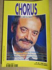 CHORUS N° 36 ETE 2001 : DOSSIER SPECIAL LOUIS CHEDID + BREL - BRASSENS - FERRE