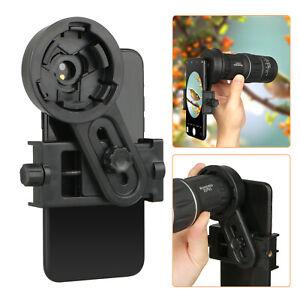 Phone Monocular Telescope Camera Adapter Spotting Scope Microscope Mount Holder