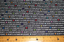 1 yd White WORDS PROJECT LINUS Security is a THUMB and BLANKET on BLACK Fabric