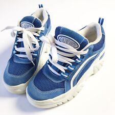 Vintage Y2K 90s Candies Platform Sneakers Womens 8.5 Blue Suede Chunky
