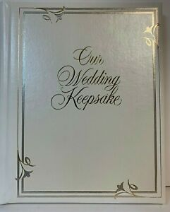 HALLMARK Our wedding keepsake for announcements guest book recording events
