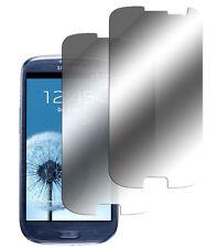 2 x lámina efecto espejo para Samsung Galaxy s3 protector pantalla Lámina mirror Screen Protector