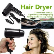 Foldable 12V 216W Hair Blow Dryer Heat Blower Hot & Cold Wind Carvan Travel Camp