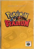 Pokémon Stadium N64 (Nintendo 64) Instruction Manual Booklet Only... NO GAME